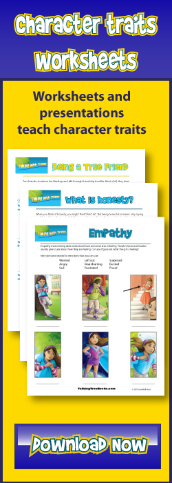 Free printable character education worksheets teach good character traits