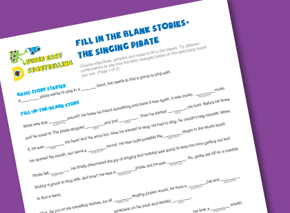 Fill in the blanks story- The Singing Pirate