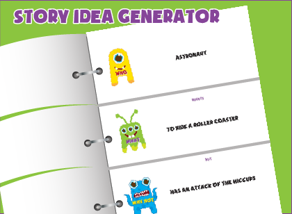 free printable story idea generator for kids generates countless creative writing prompts