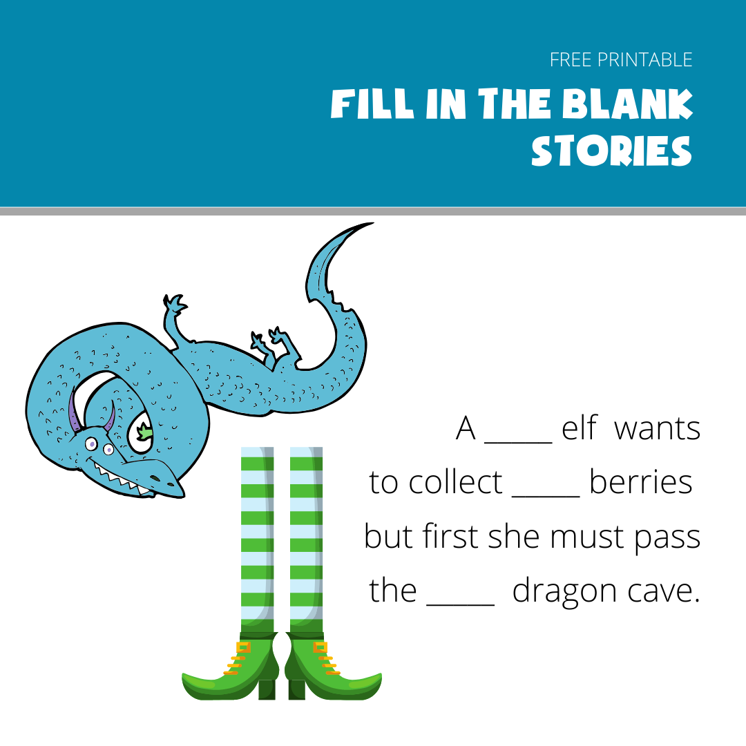 fill in the blanks story example- Elf and Dragon