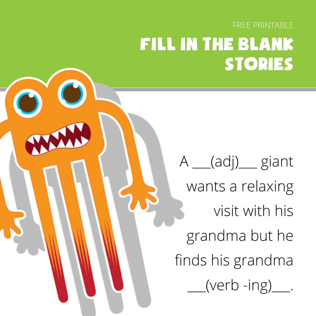 Fill in the blank story Examples- Giant visits Grandma