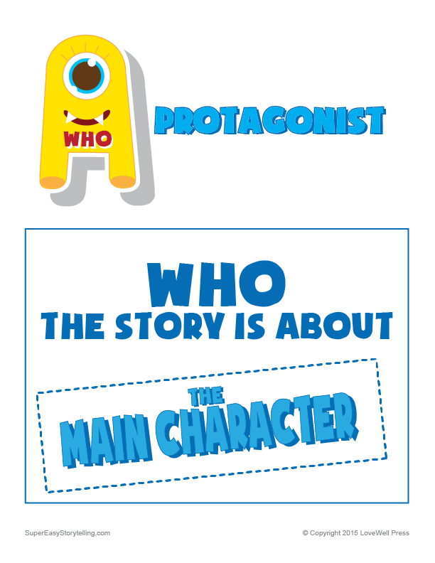what is a protagonist definition for kids- printable poster