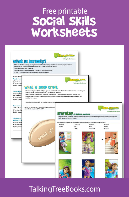 free social skills worksheets and teaching resources for kids