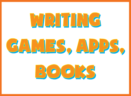 Writing games, writing apps, writing books- resources for creative writing