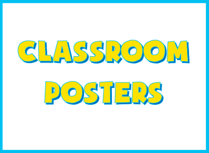 Free printable classroom posters for teaching creative writing
